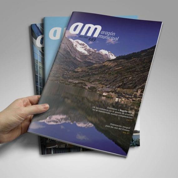 Diseño editorial Revista Aragón Municipal