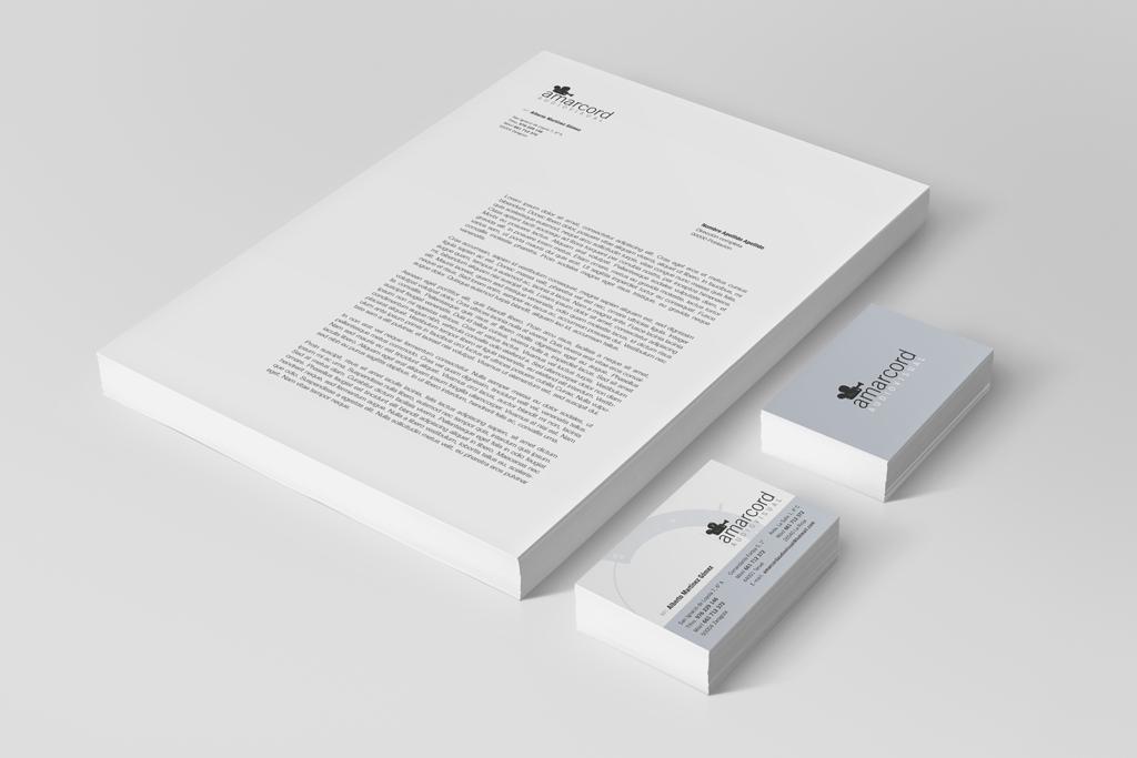 Carta y tarjetas Amarcord audiovisual