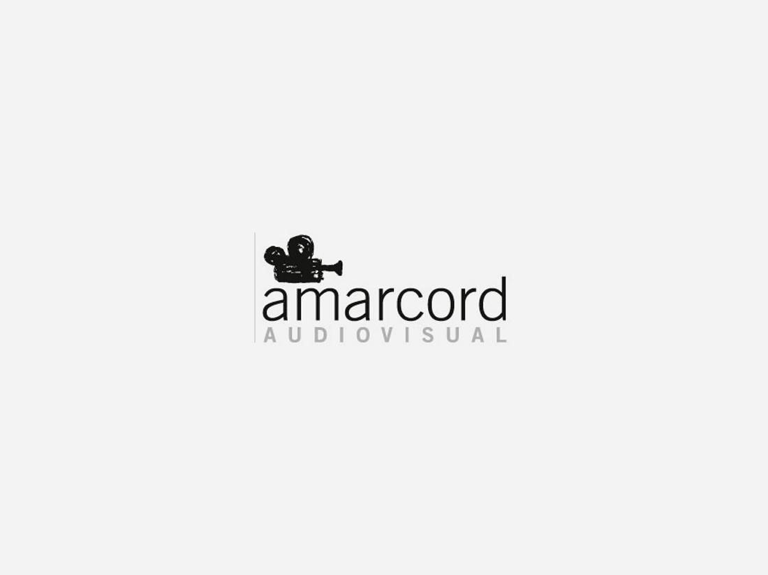 Diseño de logotipo realizado por Estudio Mique para la empresa Amarcord Audiovisual