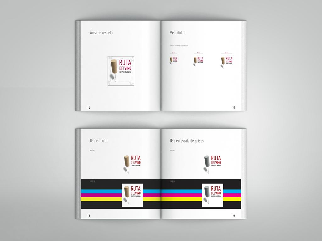 Manual de identidad Logotipo Ruta del Vino Campo de Cariñena