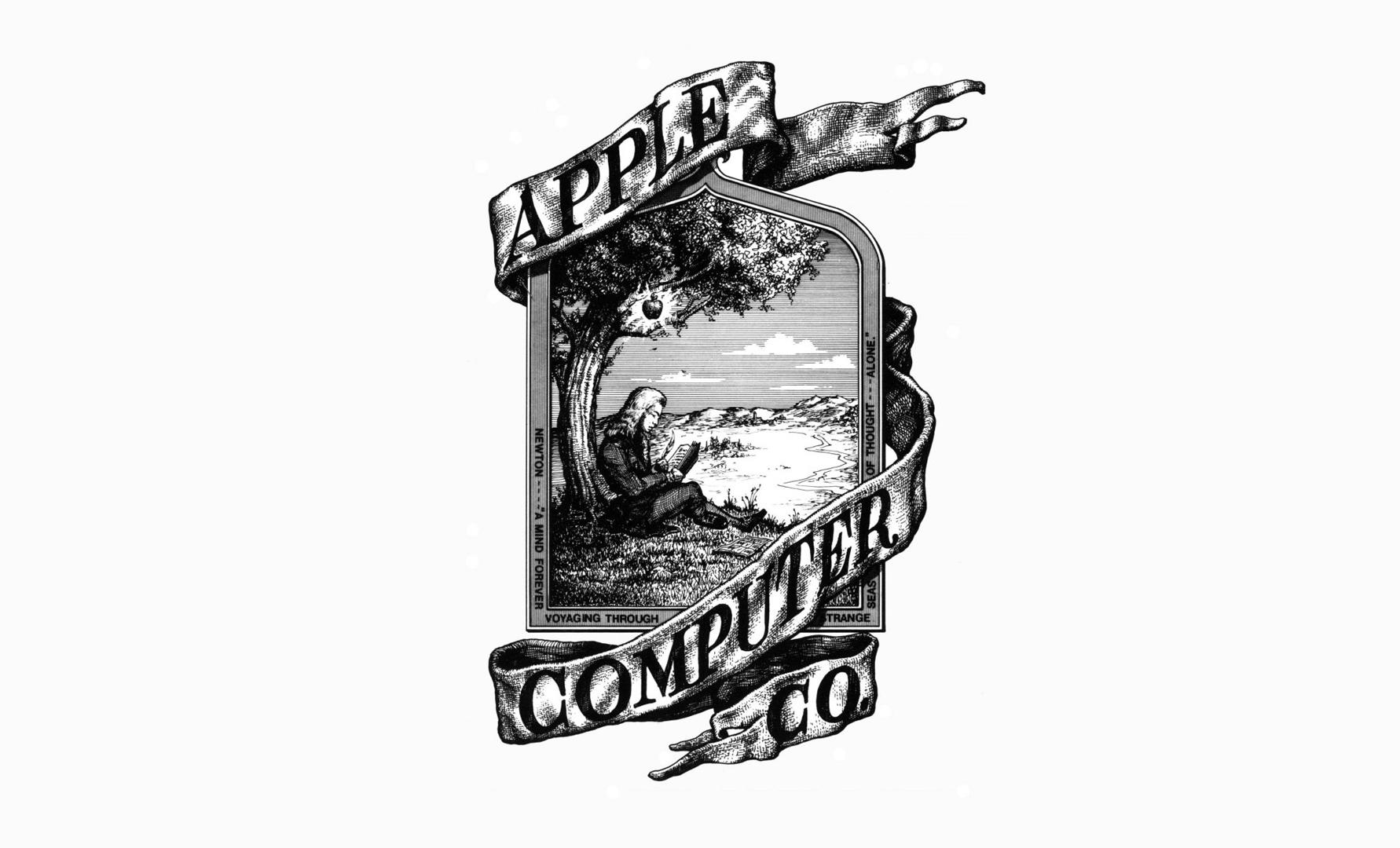 Logotipo de Apple Ronald Wayne 1976