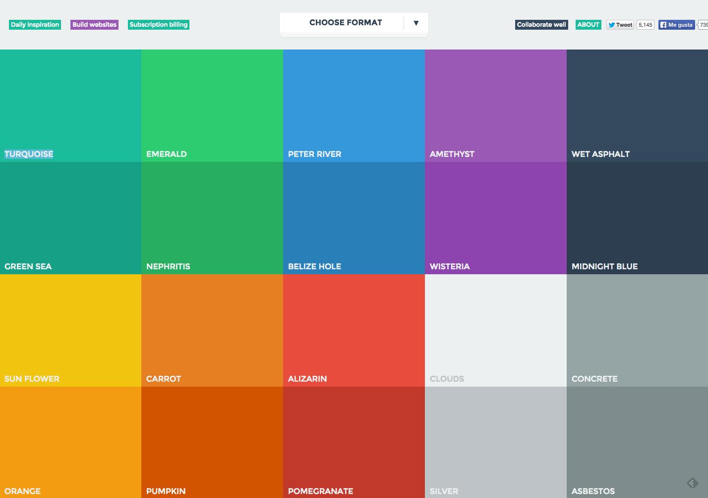 Colores básico para diseño gráfico plano de www.flatuicolors.com