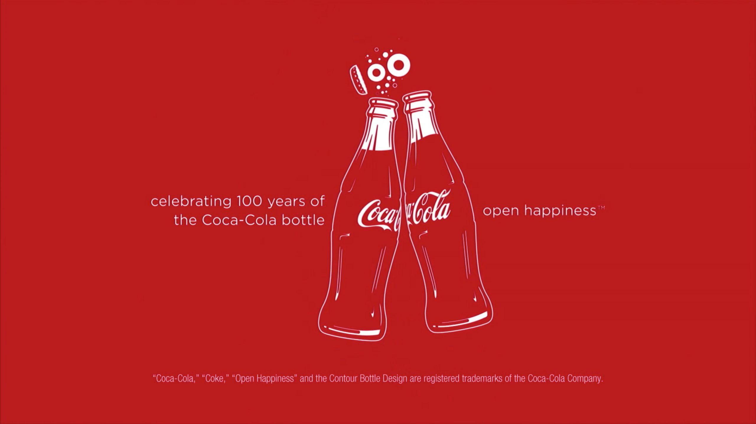 Imagen gráfica para el 100 aniversario de la botella de Coca-Cola