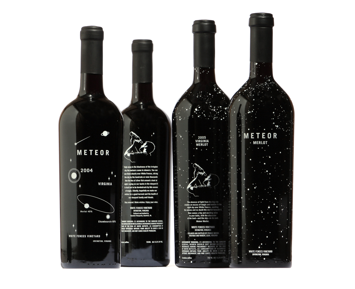Este diseño de etiquetas de vino es único para cada botella