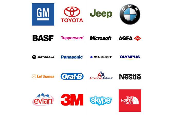 Marcas que utilizan Helvética en el diseño de sus logotipos
