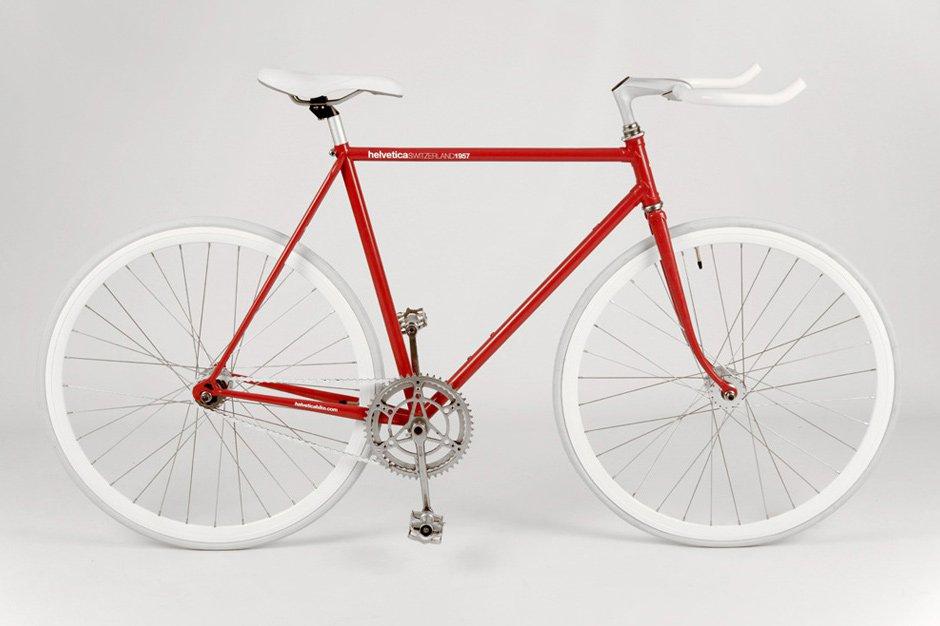 Bicicleta inspirada en la tipografía Helvética