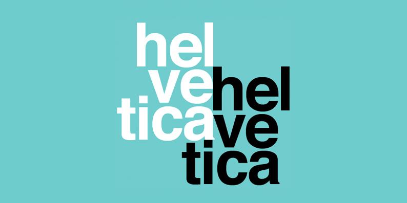 Diseño gráfico tipografía Helvética