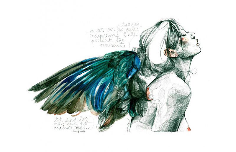 """Ilustración de Paula Bonet titulada """"Les nits que no acaben mai"""""""