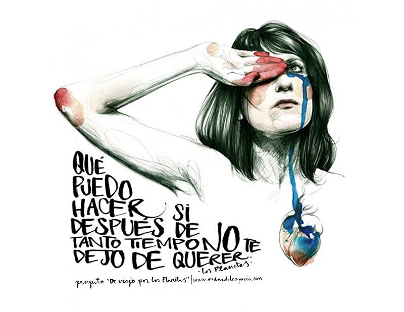"""Ilustración de Paula Bonet titulada """"Que puedo hacer"""""""