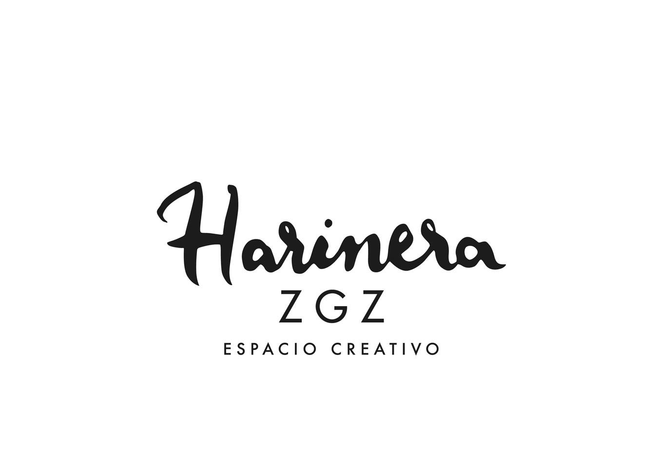 Diseño de logotipo con la leyenda Espacio Creativo con el que participamos en el concurso para el diseño de imagen corporativa de Harinera ZGZ