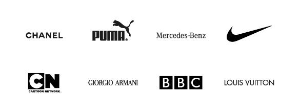 El negro en los logotipos transmite elegancia y seriedad.