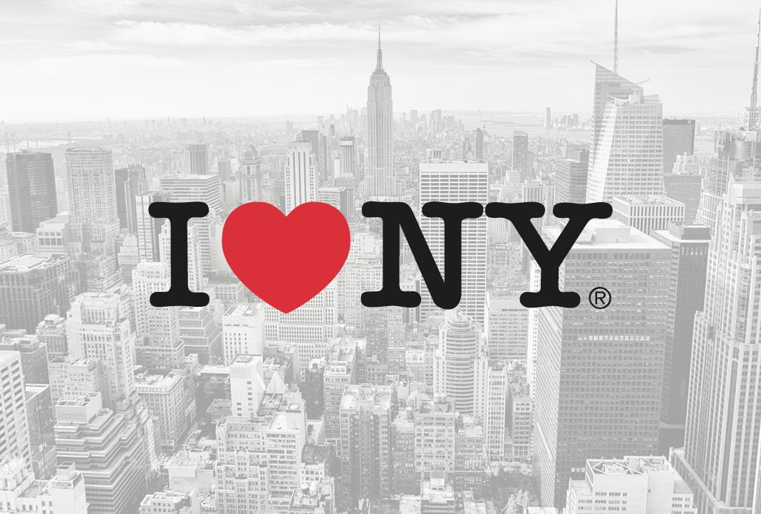 El logotipo de Nueva York es uno de los más famosos del mundo