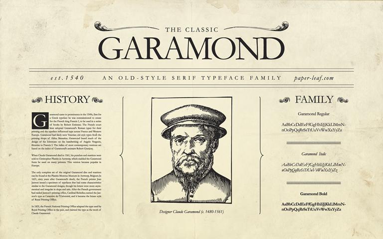 Garamond, una de las tipografías más importantes de la historia de la tipografía