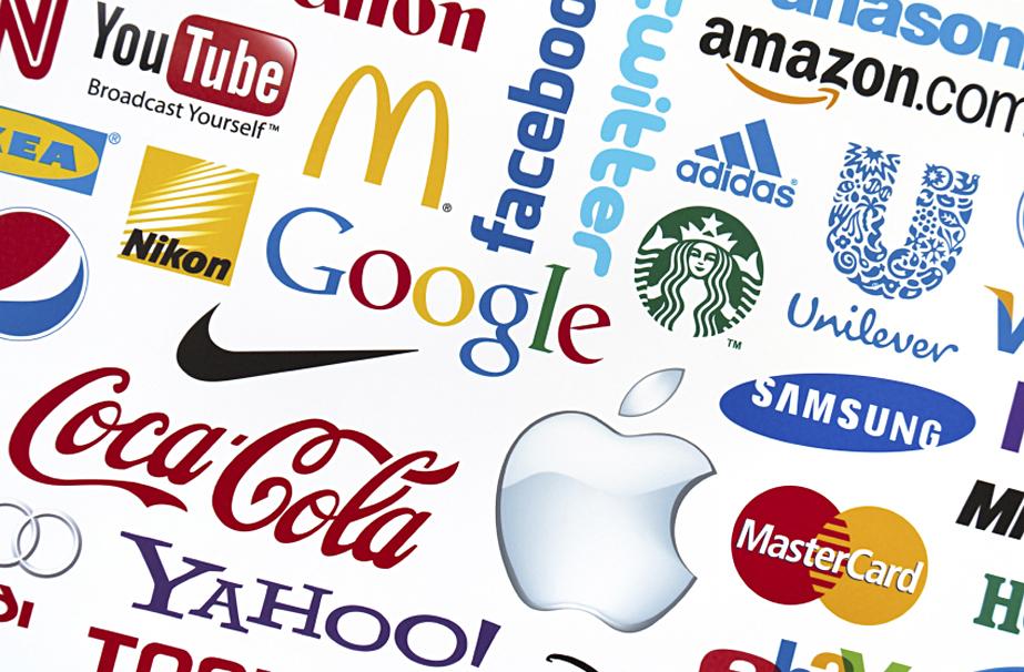 Imagen con diferentes logotipos de empresas que aplican el branding emocional