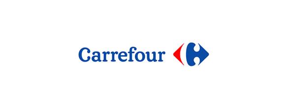 """En este caso encontramos una C """"oculta"""", la cual se forma gracias al espacio entre las figuras roja y azul del logotipo de Carrefour."""