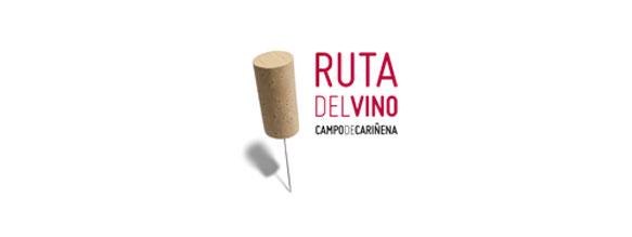 Logotipo de la Ruta del Vino Campo de Cariñena diseñado por Estudio Mique