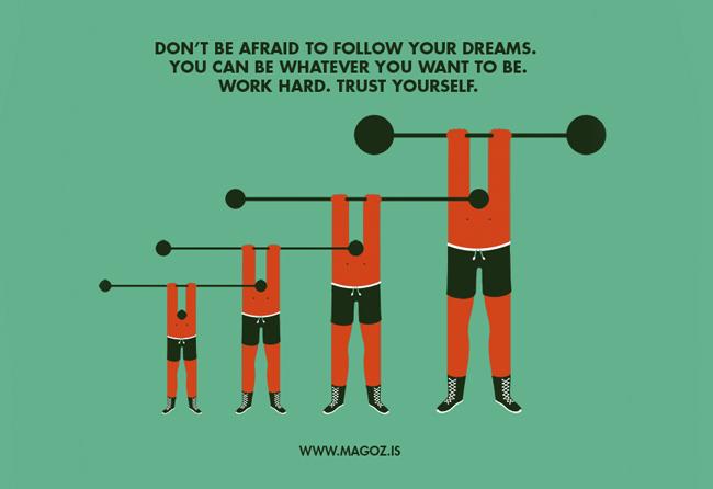 Trabajo personal de Magoz titulado Follow your dreams