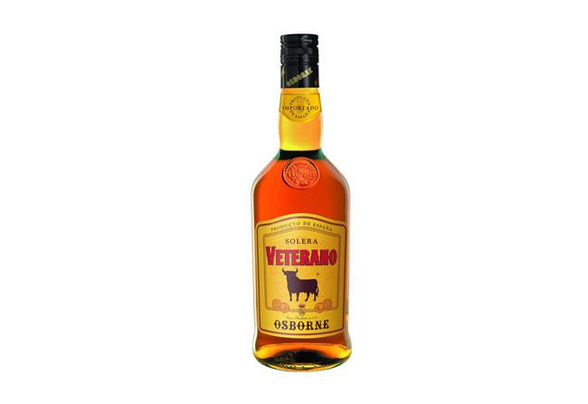 Botella brandy Veterano de las bodegas de Osborne