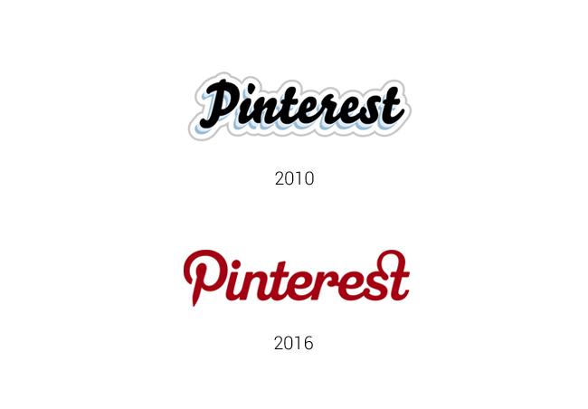 El logotipo de Pinterest ha cambiado mucho desde sus comienzos hasta la actualidad.