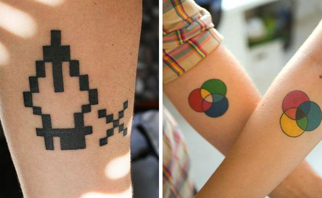 La herramienta plumilla y la síntesis del color aplicadas al mundo del tatuaje.