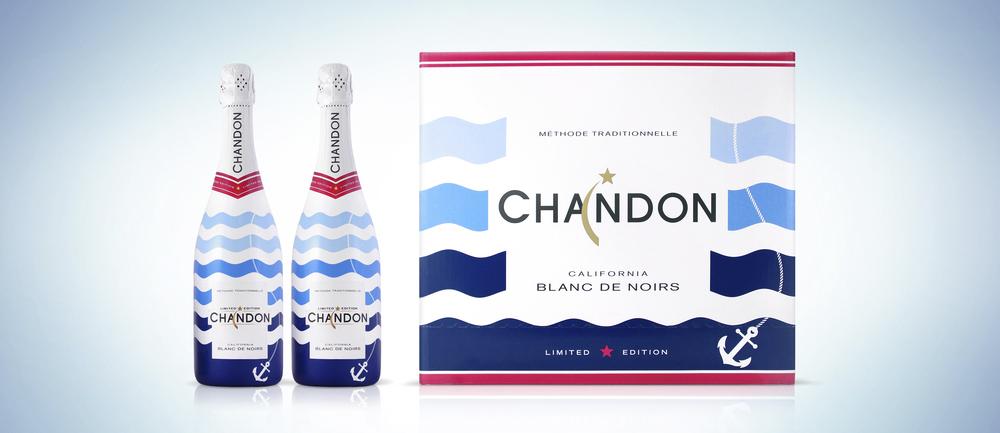 Diseño de etiquetas de vino para la marca Chandon.