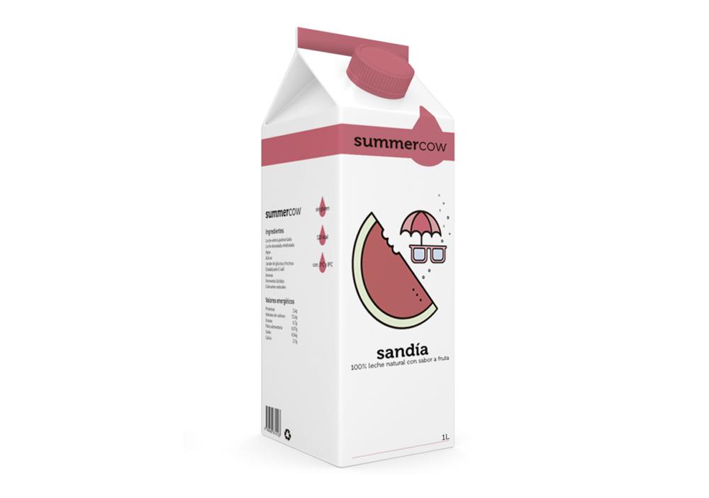 Summercow Milk es un proyecto personal de Bili Cardona, leche con sabor a fruta.