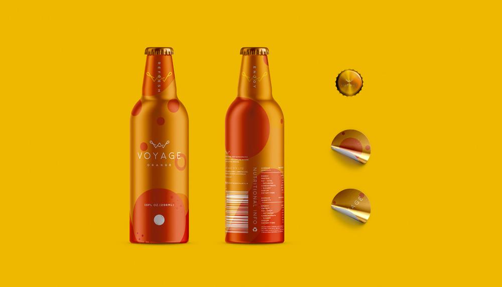 La elección del material que va a contener la bebida es de gran importancia en el diseño, en este caso se eligió el aluminio que junto al color, dan una sensación de frescos a la bebida.