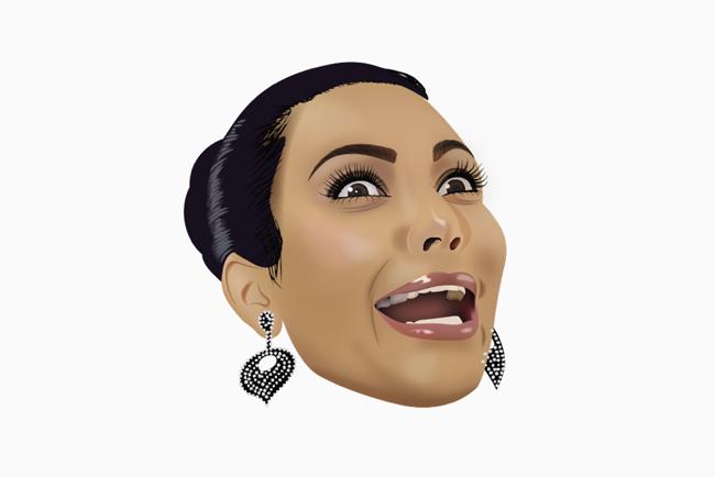 Kim Kardashian tiene su propia colección de emojis inspirados en su persona y en su familia.
