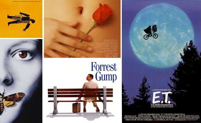 El diseño gráfico también se aplica a los carteles de cine, siendo capaz de transmitirnos en una sola imagen la esencia y las emociones de estas películas.