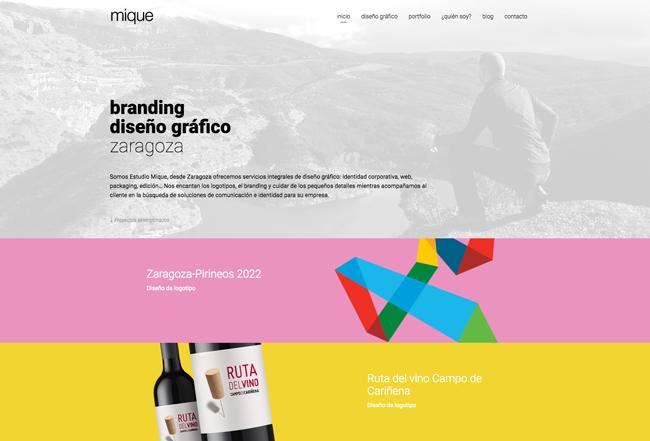 Diseño web de Estudio Mique