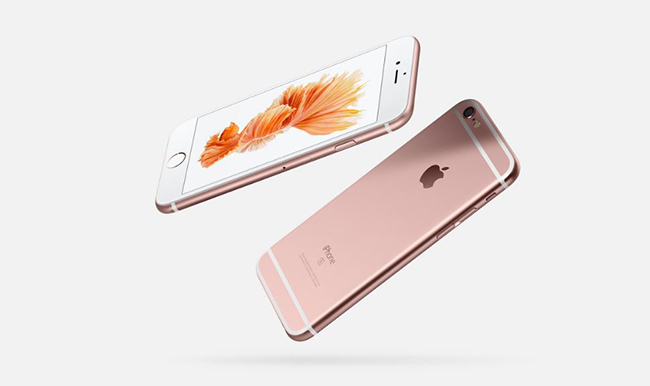 Diseño de iPhone 6S con acabado en rosa