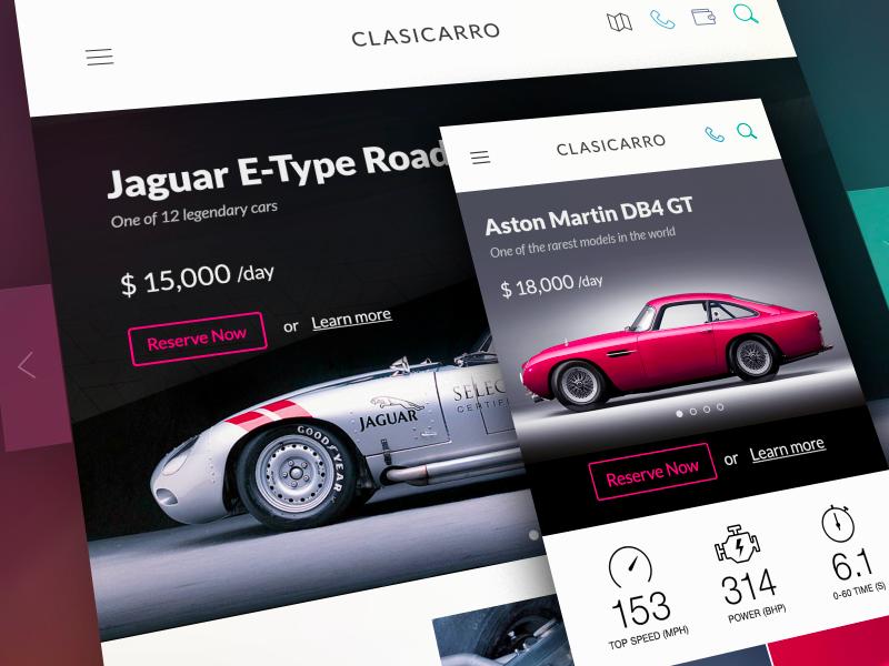 Adaptación de pantallas en diseño web Clasicarro