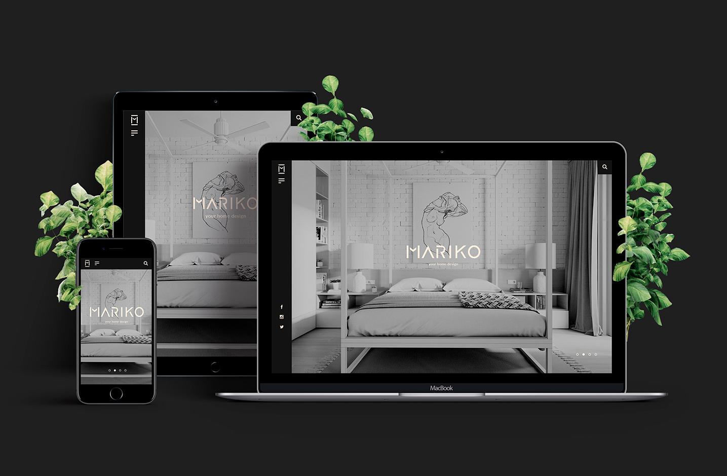 Diseño gráfico y adaptativo del proyecto web Mariko.