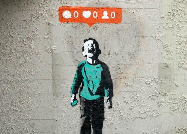 Graffiti del artista británico Banksy