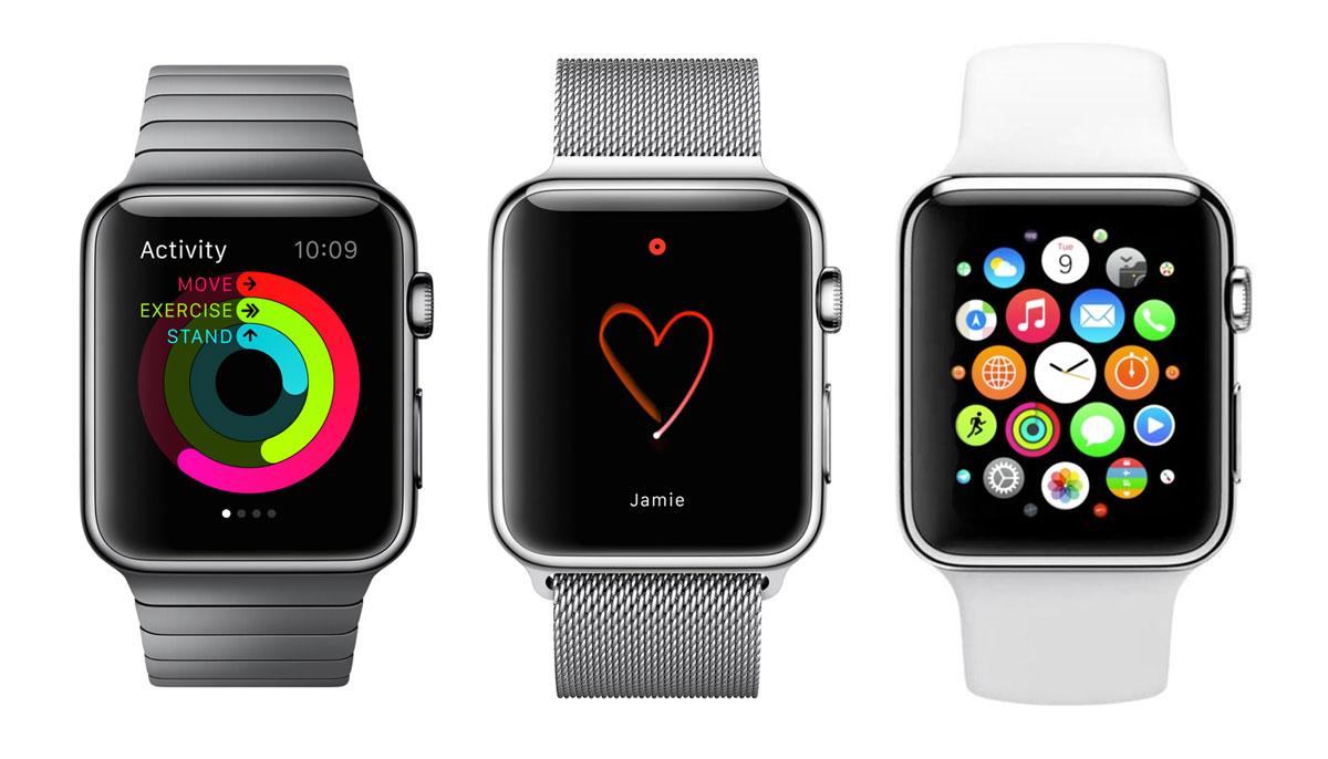 Interfaces de pantalla en Apple Watch
