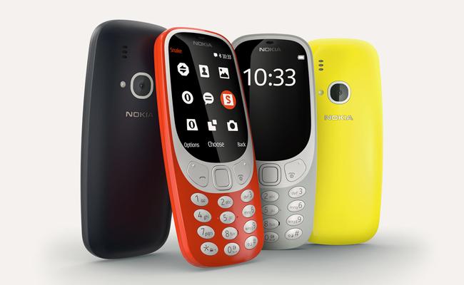 El Nokia 3310 está disponible en cuatro colores.