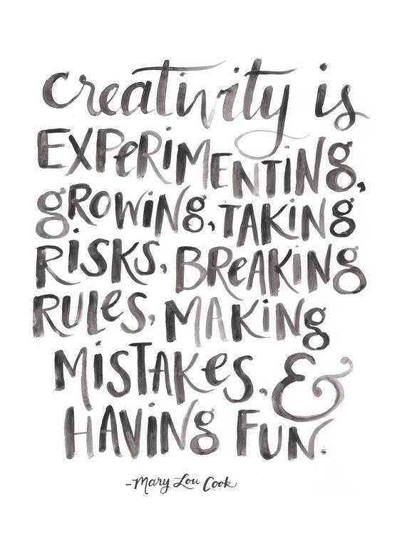 Lettering sobre qué es la creatividad.
