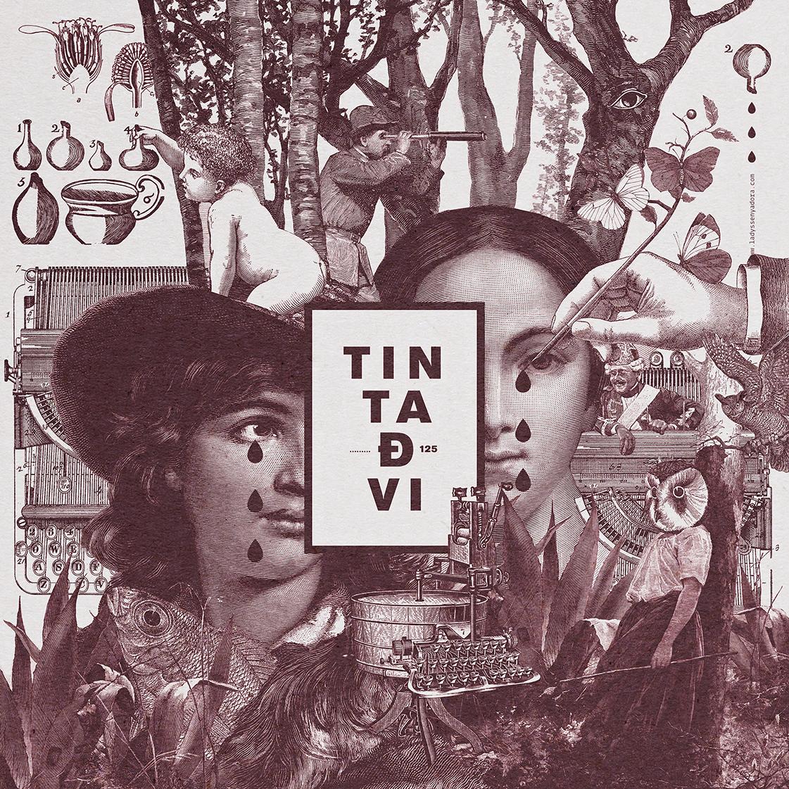 Diseño gráfico de grabado para el proyecto Tinta de VI de Ladyssenyadora.