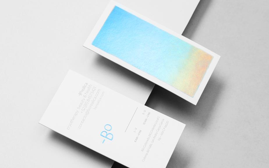 Tarjeta de visita diseñada para Boreálica por la empresa Anagrama.