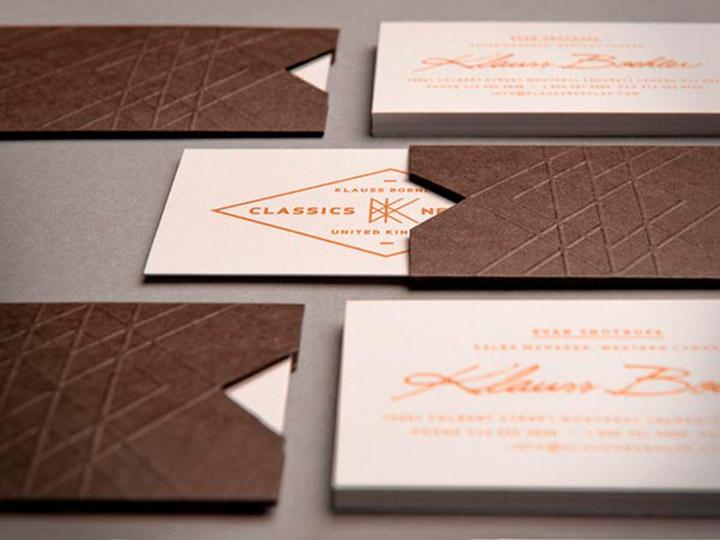 Tarjetas de visita para marca Klauss Boehler por Lg2 Boutique.