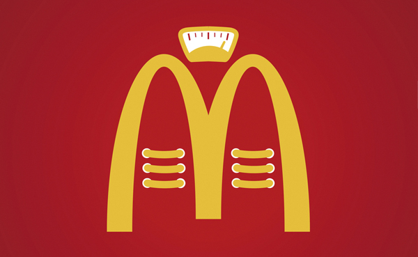 Diseño de cartel protesta hacia McDonalds de David Criado.