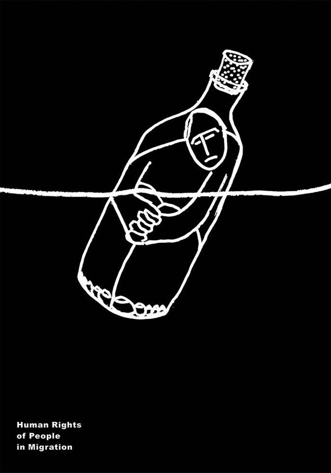 Diseño de cartel protesta diseñado por Mohsen Heydari.