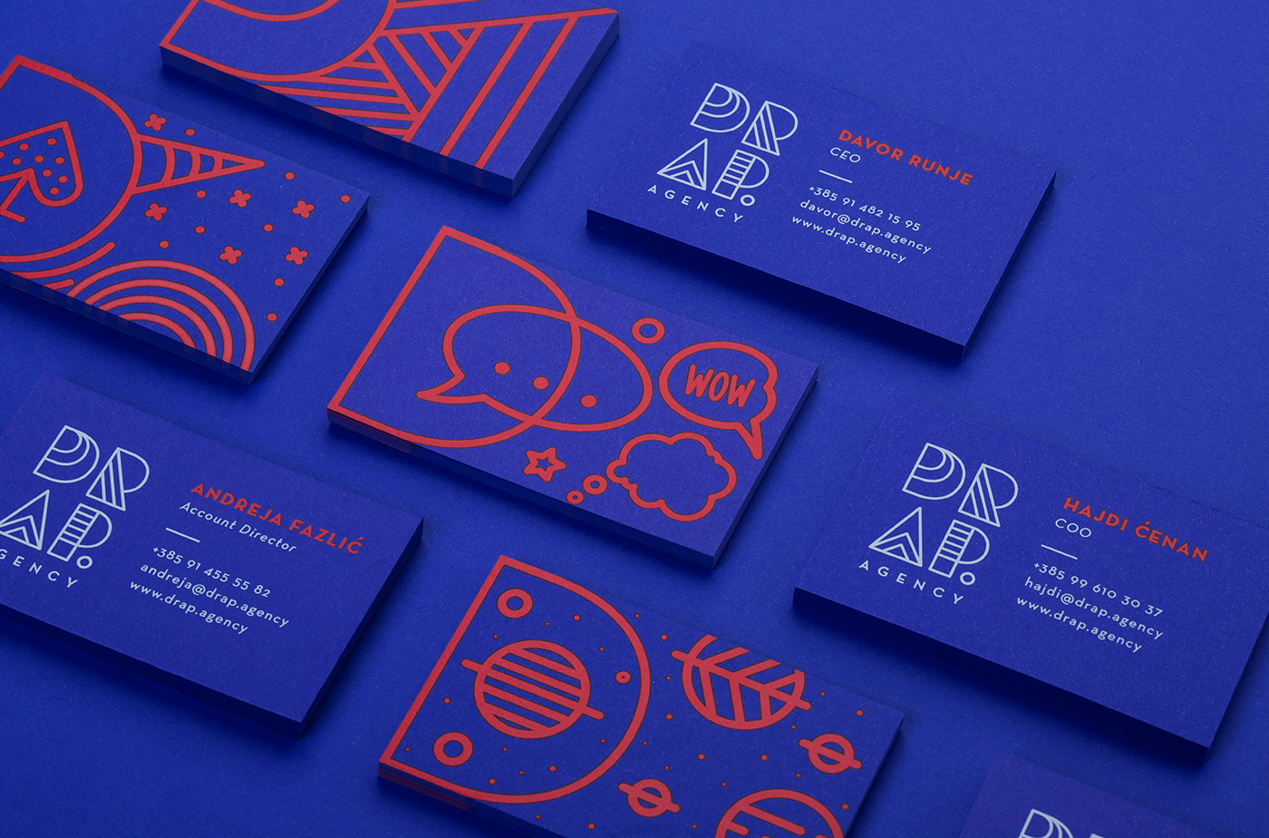 Diseño de tarjetas de la agencia DRAP.
