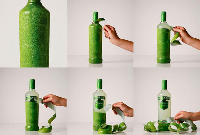 Diseño de packaging con experiencia para el usuario para la marca Smirnoff.