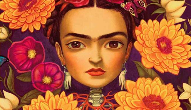 Ilustración de Frida Kahlo por el artista Benjamin Lacombe.