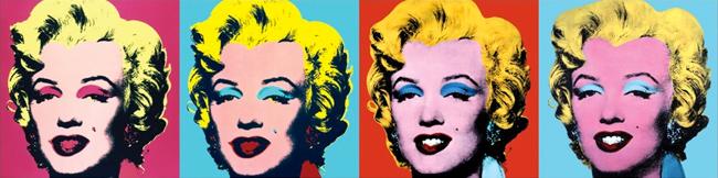 Marilyn Monroe por Andy Warhol.