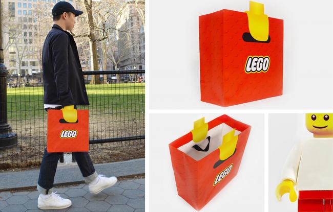 Packaging diseñado para la nueva bolsa de Lego