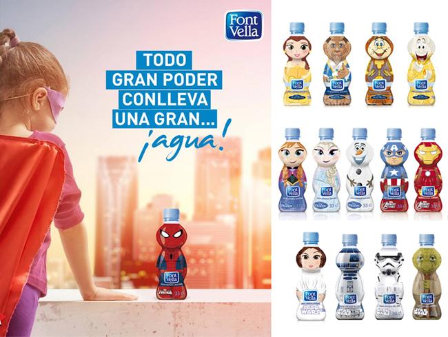 Packaging para botella Font Vella Kids