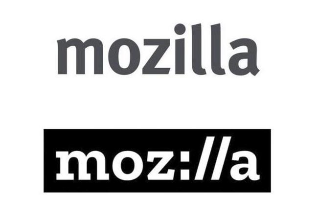 Ejemplo de restyling, en este caso un cambio tipográfico y de estilo para Mozilla.