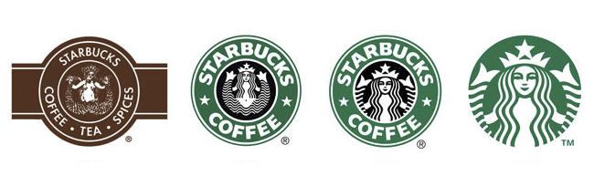 Starbucks también ha sufrido un rebranding de su marca para adaptarse al público actual.